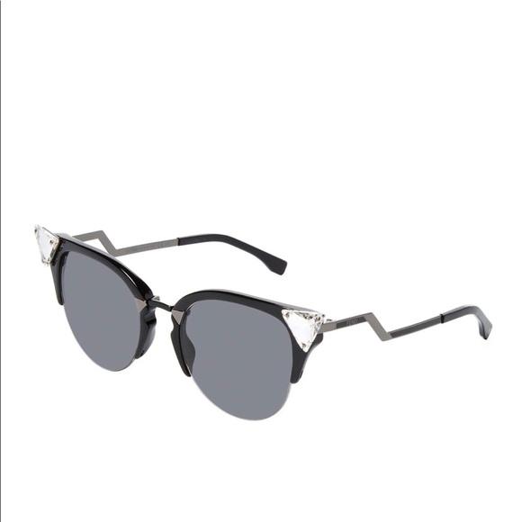 c30b2779ae1 Fendi Accessories - Fendi Iridia Cat-Eye Crystal-Tip Sunglasses